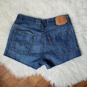 Vintage Levi's 514 cut off shorts